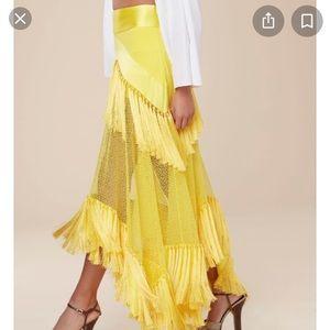 Diane Von Furstenberg yellow skirt